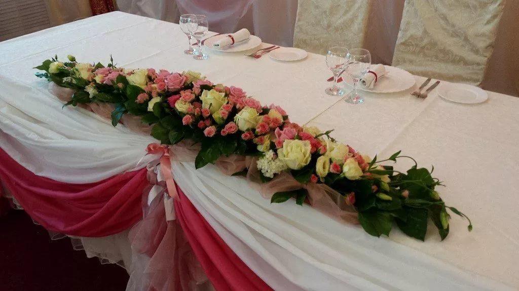 Композиция из цветов на стол молодоженов как сделать 259